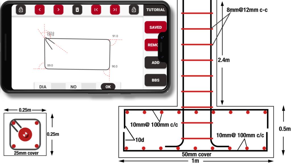 Stirrup Column Tie Bar Bending Schedule